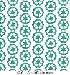 Pattern background Recycle sign icon