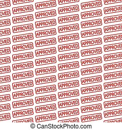 Pattern background stamp approved text