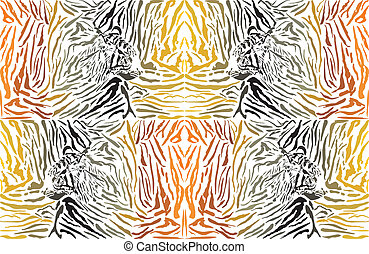 Pattern background tiger with head