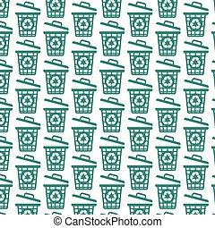 Pattern background trash bin icon