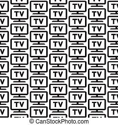 Pattern background tv icon