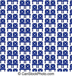 Pattern background Waiting sign airport seat icon