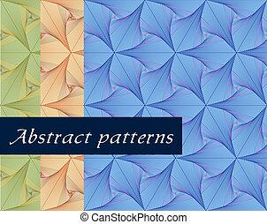pattern., behang, seamless, vector