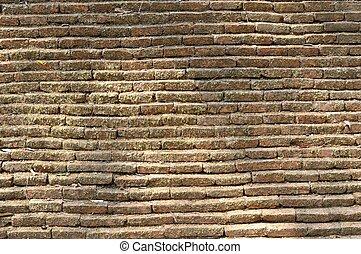 Pattern brick block from wall.
