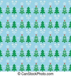 pattern Christmas tree in the snow