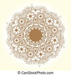 pattern., circle., レース, デリケートである, ラウンド, 装飾用
