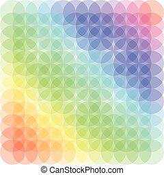 Pattern circle color vector illustration conception art