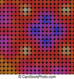 Pattern circle style vector mosaic background