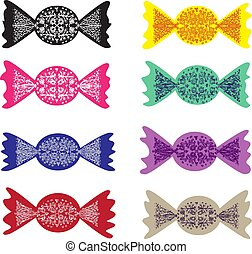 pattern color candy collection