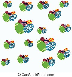 pattern colorful Easter eggs