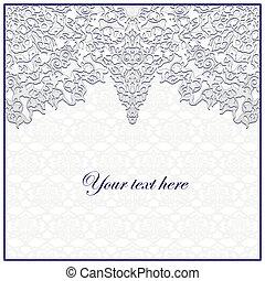 pattern., décoratif, seamless, floral