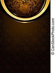 Pattern dark brown Vintage, eps10