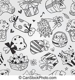 pattern doodle birthday seamless