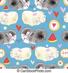 Pattern enamored hamster