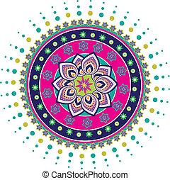 Pattern - Stock Illustration: Lotus pattern