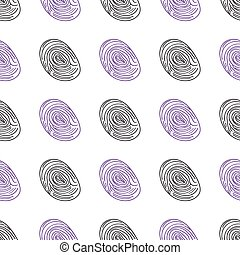 pattern fingerprints dactyloscopy Vector icon of human...