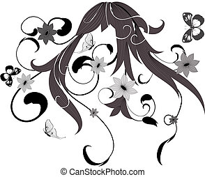 pattern flower bush