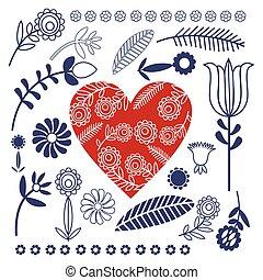 pattern folk - heart