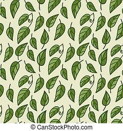pattern., follaje, seamless, vector
