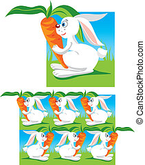 Pattern for children (funny hares)