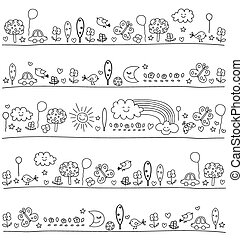 pattern for children with cute nature elements