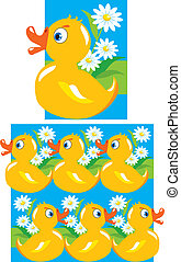 Pattern for children-yellow funny