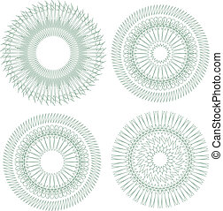 pattern for currency, certificate or diplomas. Vector guilloche