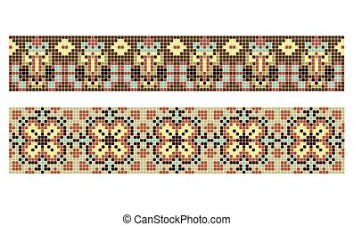 pattern for traditional Ukrainian cross-stitch embroidery