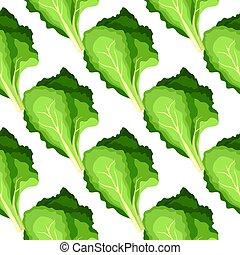 pattern., frais, nature, feuilles, organique, légume salade, plante verte, seamless, arrière-plan.
