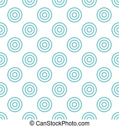 Pattern from light blue circles on white seamless background.