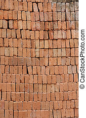 Pattern from red brick wall