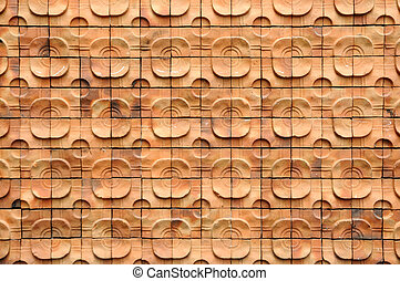 Pattern from red brick wall.
