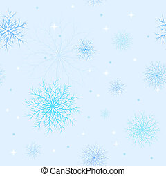 Pattern from snowflakes