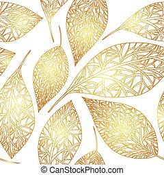 pattern golden leaves.eps