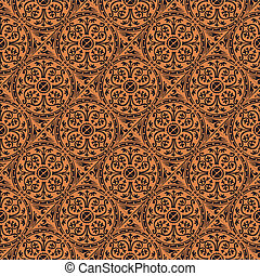 Pattern Gothic Seamless Red Wallpaper