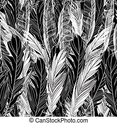 Pattern graphic bird feathers