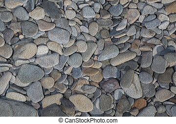 Pattern gray color background with colorful stones