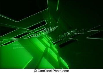 pattern, green, portal