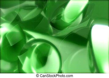pattern, green, round