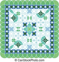 Pattern green vector illustration isolated conception art