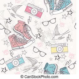 pattern., grunge, mignon, résumé