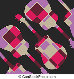 Pattern guitar vector