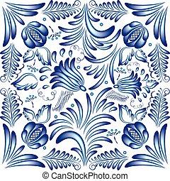 pattern gzhel