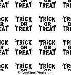 pattern., halloween, isolé, ou, illustration., lettering., stockage, seamless, traiter, arrière-plan., blanc, vecteur, tour