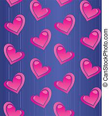 pattern hearts pink