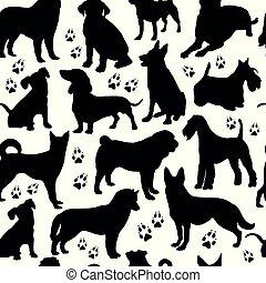 pattern., hund, seamless