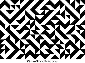 Pattern - Black and white geometric pattern