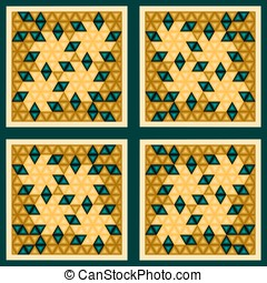 Pattern in abstract style