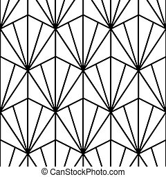 pattern in art deco style