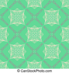 Pattern In Emerald Green Delicate Elegant Lines